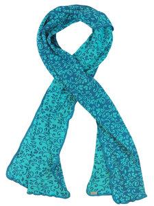 Damen Strick-Schal Rieke mit floralem Muster reine Bio-Baumwolle - Invero