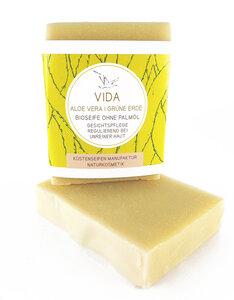 VIDA Bio-Seife mit Aloe Vera und Grüner Erde ohne Duftstoffe - Küstenseifen Manufaktur
