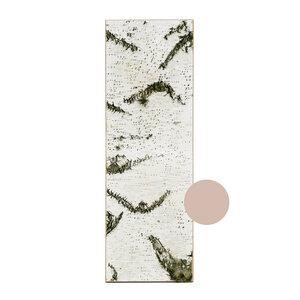 Birkenrinde Wandpaneele - GROß - Wandbild aus echter Birke mit Moos und Flechten auf Holz - MOYA Birch Bark