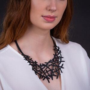 Alga vegane Halskette aus recyceltem Kautschuk - Paguro Upcycle