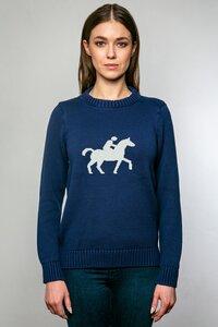 Damen Strickpullover aus Bio-Baumwolle | Pferd - Pillars of Creation