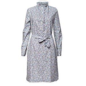 Kleid mit Rüschenkragen, Bindegürtel im Blümchenmuster aus Bio- Baumwolle - Alexas Alphabet