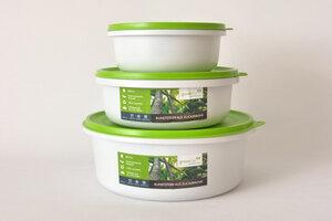 Frischhaltedosen Set 2,5L, 1,5L und 0,7L - greenline
