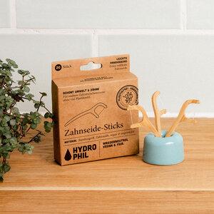Nachhaltige Zahnseide Sticks | Flosser | aus Bambus | 20 Stück - HYDROPHIL
