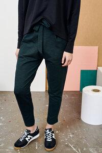 Stoffhose aus Bio Baumwolle - Carrot Pants Tweed Effect - School Green - PAPU