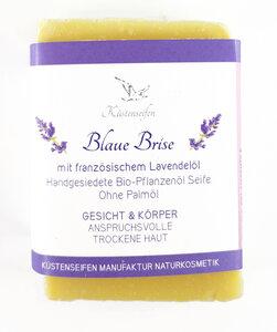 Blaue Brise Bioseife Lavendel für trockene Haut - Küstenseifen Manufaktur