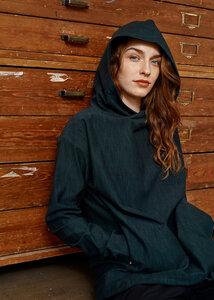 Hoodie aus Bio Baumwolle - Pivot Hoodie Tweed Effect - School Green - PAPU