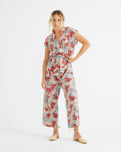 Jumpsuit - Small Flowers Malawi - aus ECOVERO - thinking mu