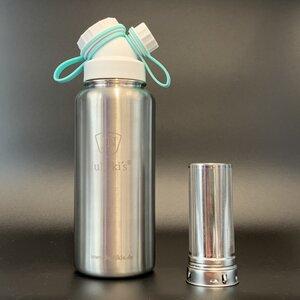 Cold Brew | JuNiki´s® eco line isolierte Edelstahl Trinkflasche 1 Liter + Edelstahl-Filter - JN JuNiki's