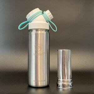 Cold Brew | JuNiki´s® eco line isolierte Edelstahl Trinkflasche 550ml + Edelstahl-Filter - JN JuNiki's