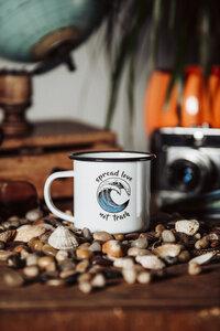 Spread Love Coffeemug / Emaille Becher - Zeachild
