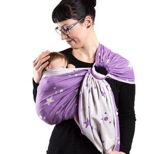Schmusewolke Babytragetuch RingSling Mirastar Violet - SCHMUSEWOLKE