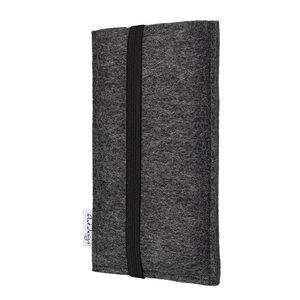 Handyhülle COIMBRA für Apple iPhone - 100% Wollfilz - dunkelgrau - flat.design