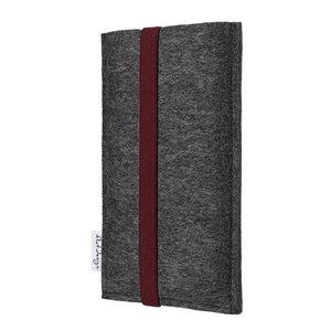 Handyhülle COIMBRA für Fairphone - 100% Wollfilz - dunkelgrau - flat.design