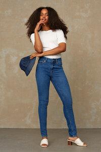 Slim-Fit Jeans aus Recycling und Bio Baumwolle - Juno High - Eco Veggie Worn - Kings Of Indigo