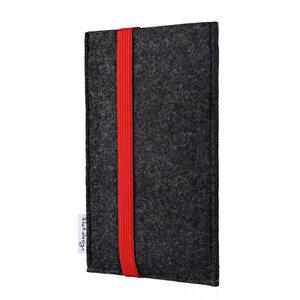 Handyhülle COIMBRA für Huawei Mate-Serie - 100% Wollfilz - dunkelgrau - flat.design