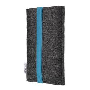 Handyhülle COIMBRA für Huawei P-Serie - 100% Wollfilz - dunkelgrau - flat.design