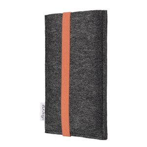 Handyhülle COIMBRA für Samsung Galaxy M-Serie - 100% Wollfilz - dunkelgrau - flat.design