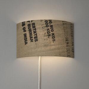 Wandleuchte Perlbohne N°59 aus Kaffeesack - lumbono