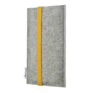 Handyhülle COIMBRA für Apple iPhone - 100% Wollfilz - hellgrau - flat.design