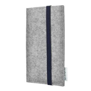 Handytasche COIMBRA für Apple iPhone - 100% Wollfilz - grau - flat.design
