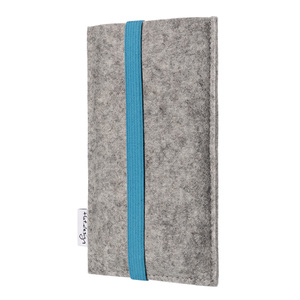 Handyhülle COIMBRA für Fairphone - 100% Wollfilz - hellgrau - flat.design