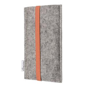 Handyhülle COIMBRA für Fairphone - 100% Wollfilz - grau - flat design by Mareike Kriesten