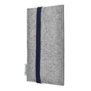 Handyhülle COIMBRA für Samsung Galaxy A-Serie - 100% Wollfilz - hellgrau - flat.design