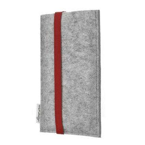 Handyhülle COIMBRA für Samsung Galaxy S-Serie - 100% Wollfilz - hellgrau - flat.design