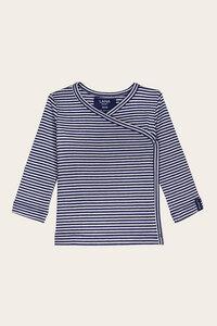 Bio Baby Wickelshirt geringelt oder einfarbig - Finn - Lana natural wear