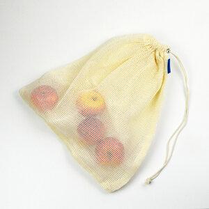 Marie Natur Obst- & Gemüsenetz - wiederverwendbare Einkaufstasche aus Baumwolle 32 x 36 cm - Marie Natur