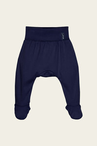 Bio Baby Pumphose mit breitem Bund und Füßen uni - Finn - Lana naturalwear