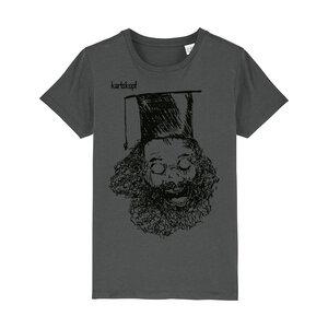 Bedrucktes Kinder T-Shirt aus Bio-Baumwolle UNIABSCHLUSS - karlskopf