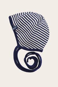 Bio Baby Erstlingsmütze uni oder geringelt für Neugeborene zum Binden - Finn - Lana naturalwear