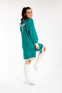 Oversize Kleid Kuschelsweat green 100% Made in Germany - Dörpwicht