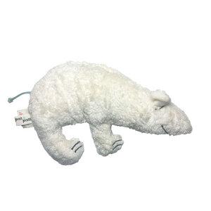 """Greifling mit Rassel """"Eisbär"""" weiss , 100 % Baumwolle-kbA - Pat und Patty"""