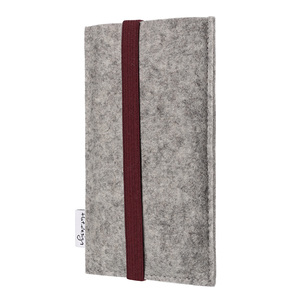 Handyhülle COIMBRA für Huawei Mate-Serie - 100% Wollfilz - hellgrau - flat.design