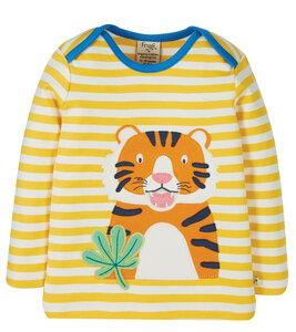 Langarmshirt mit Tiger Applikation aus Biobaumwolle - Frugi