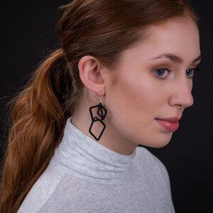 Belinda handgefertigte Ohrringe aus recyceltem Reifenschlauch - Paguro Upcycle