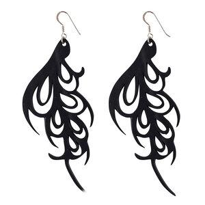 Bella Art-Nouveau handgefertigte Ohrringe aus recyceltem Kautschuk - SAPU
