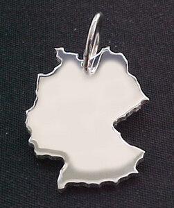 DEUTSCHLAND Kettenanhänger in 925 Silber - S.W.w. Schmuckwaren