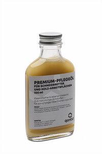 Premium-Holzöl für Küchenbretter und Holz-Arbeitsplatten, lebensmittelecht, 100ml - qontur