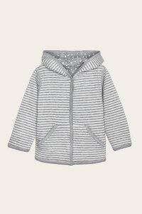 Bio Baby Kapuzenjacke zum Wenden gepunktet und gestreift - Momo - Lana naturalwear