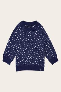 Bio Baby Pullover zum Wenden gepunktet und gestreift - Momo - Lana naturalwear