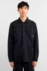 Hemd aus Bio Baumwolle - Edsbyn Black Ripstop - Schwarz - DEDICATED