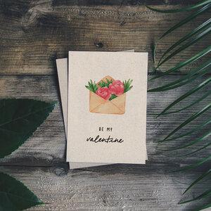 "Grußkarte Graspapier - ""Valentine"" - Matabooks"
