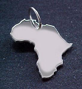 AFRIKA Kettenanhänger  in 925 Silber - S.W.w. Schmuckwaren