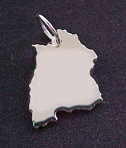 BADEN-WÜRTTEMBERG Kettenanhänger  in 925 Silber - S.W.w. Schmuckwaren