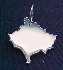 KOSOVO Kettenanhänger in 925 Silber - S.W.w. Schmuckwaren