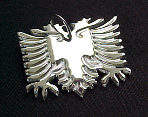 ALBANISCHER ADLER Kettenanhänger  in 925 Silber - S.W.w. Schmuckwaren
